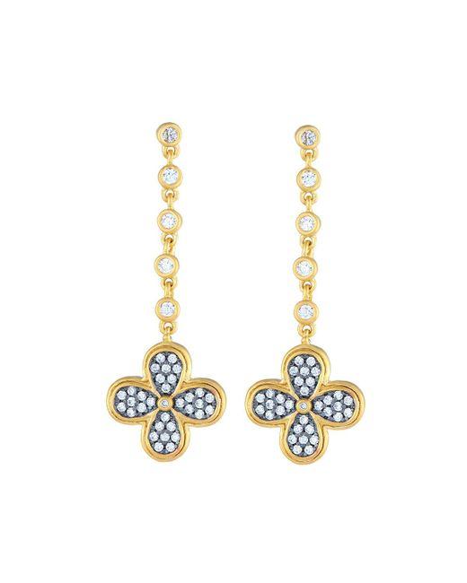 Freida Rothman   Metallic Blackened Pave Clover Drop Earrings   Lyst