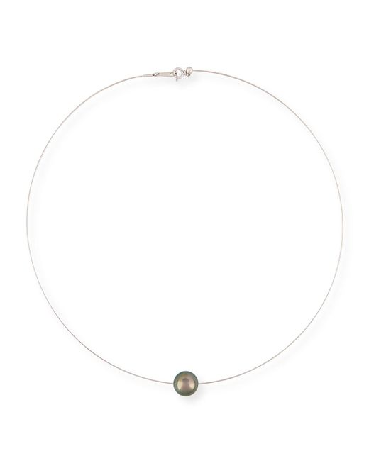 Belpearl | White 18k Tahitian Pearl Wire Necklace | Lyst