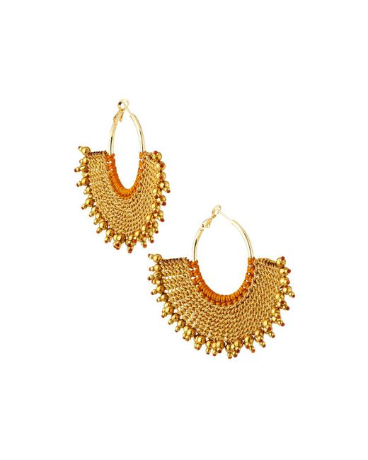 Panacea - Metallic Rope Fan Earrings - Lyst