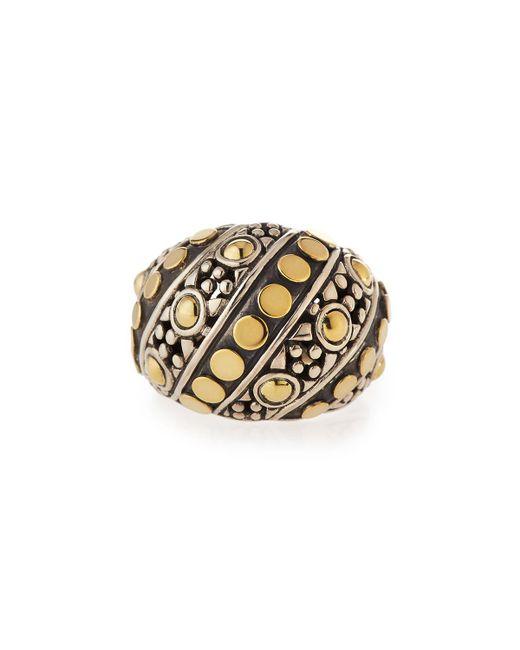 John Hardy - Metallic Jaisalmer Dot Twisted Oval Ring Size 7 - Lyst