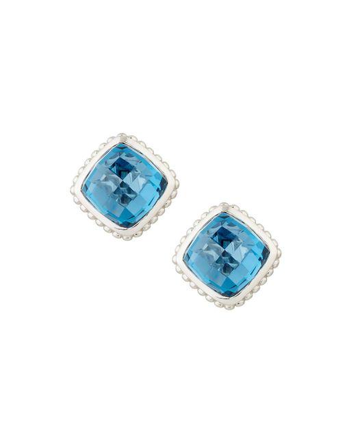 Judith Ripka | Blue Cushion-cut Indigo Spinel Button Earrings | Lyst