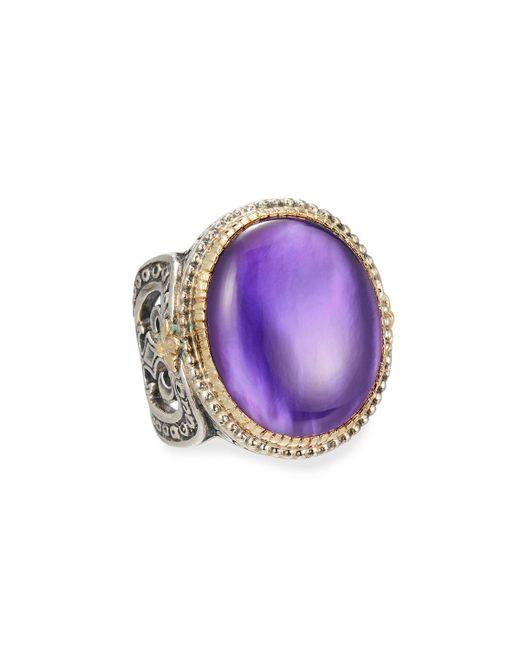 Konstantino | Purple Erato Large Oval Amethyst Doublet Ring | Lyst