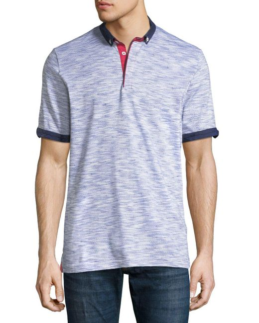 Maceoo - Blue Variable Jersey Contrast-trim Polo Shirt for Men - Lyst