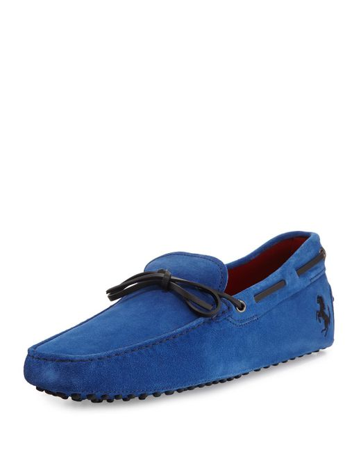 Tod's - Blue Gommini Suede Tie Driver for Men - Lyst