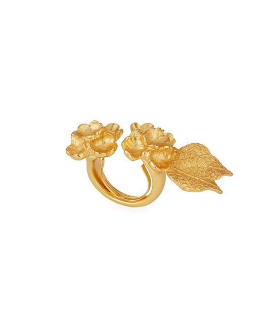 Stephanie Kantis | Metallic Flower Double Ring | Lyst
