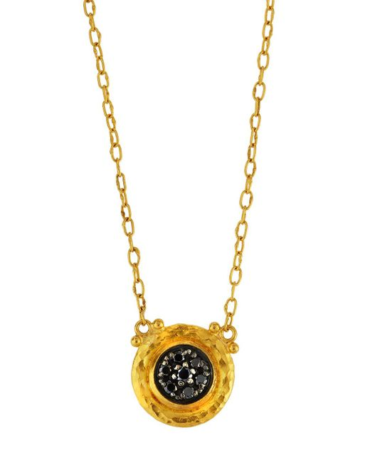 Gurhan | Celestial Moonstruck 24k Pave Black Diamond Pendant Necklace | Lyst