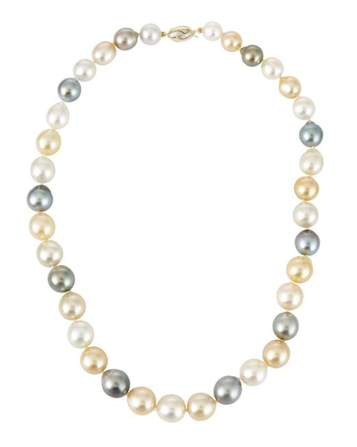 Belpearl | Metallic 14k Multicolor Tahitian & South Sea Pearl Necklace | Lyst