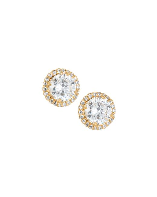 Fantasia by Deserio - Metallic 22k Gold-plated Cz Stud Earrings - Lyst