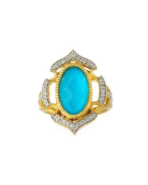 Jude Frances - Metallic Malta 18k Diamond & Turquoise Doublet Ring - Lyst