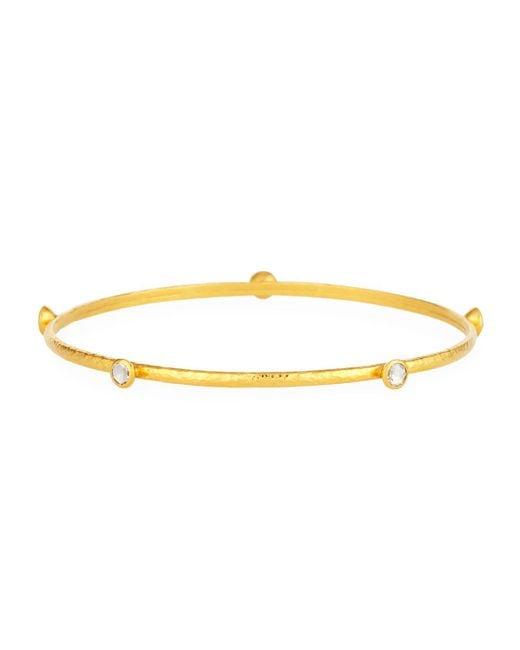 Gurhan - Metallic Skittle 24k Gold Thin 5-diamond Bangle Bracelet - Lyst