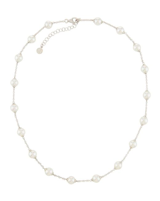 Majorica - Multicolor Multi-pearl Chain Necklace White - Lyst