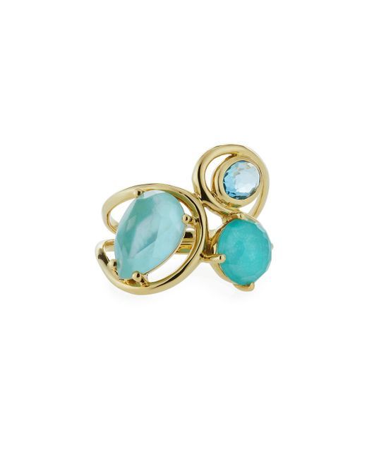Ippolita - Blue 18k Rock Candy Squiggle Ring In Waterfall - Lyst