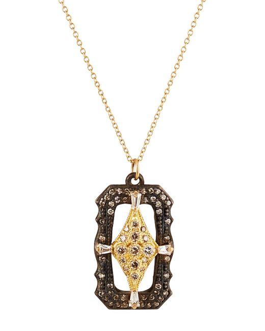 Armenta - Metallic Old World Scalloped Diamond Crivelli Pendant Necklace - Lyst