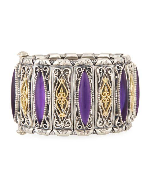 Konstantino - Purple Erato Amethyst Doublet Filigreed Cuff Bracelet - Lyst