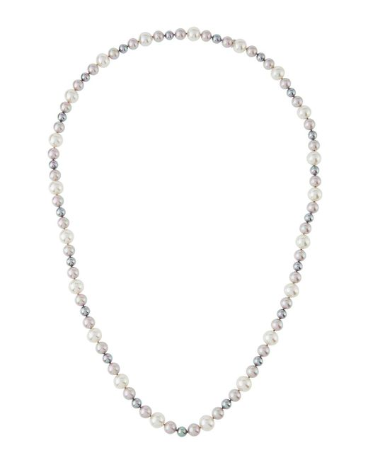 Majorica | Metallic 8-12mm Nuage Simulated Pearl Necklace | Lyst