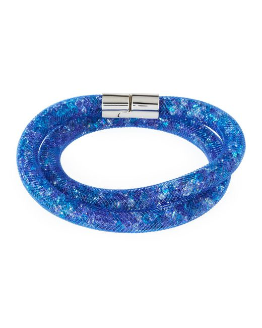 Swarovski   Blue Stardust Convertible Crystal Mesh Bracelet/choker   Lyst