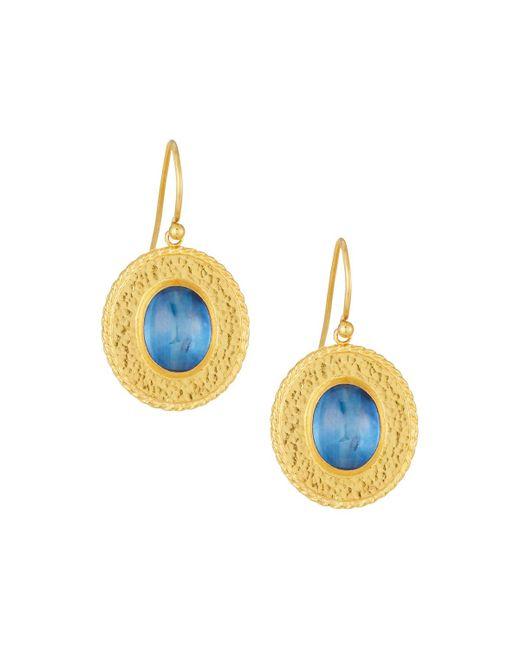 Gurhan | Blue Renaissance 24k Oval Kyanite Drop Earrings | Lyst