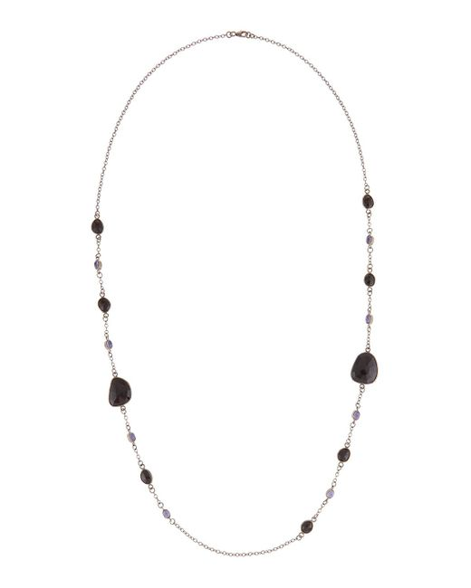 Bavna - Multicolor Long Tanzanite & Spinel Station Necklace - Lyst
