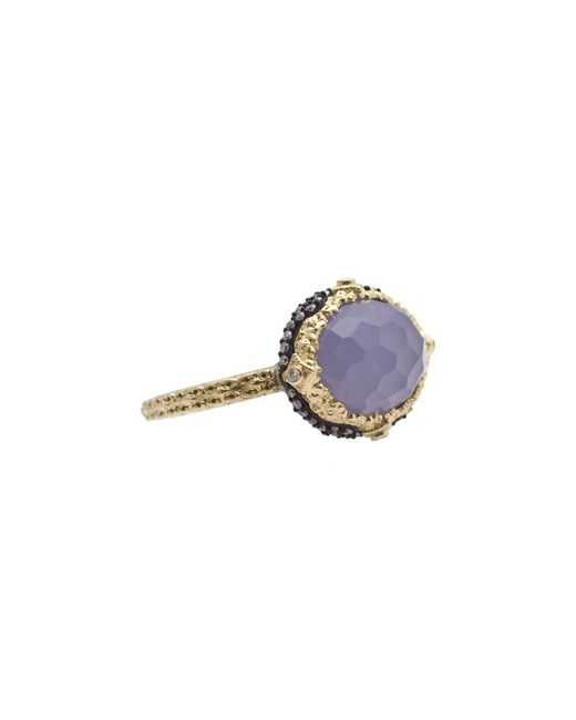 Armenta - Purple Old World Chalcedony & Diamond Ring - Lyst