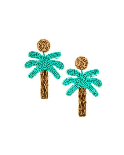 Kenneth Jay Lane - Green Palm Tree Drop Earrings - Lyst