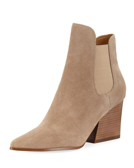 Kendall + Kylie - Natural Finley Gored Booties - Lyst
