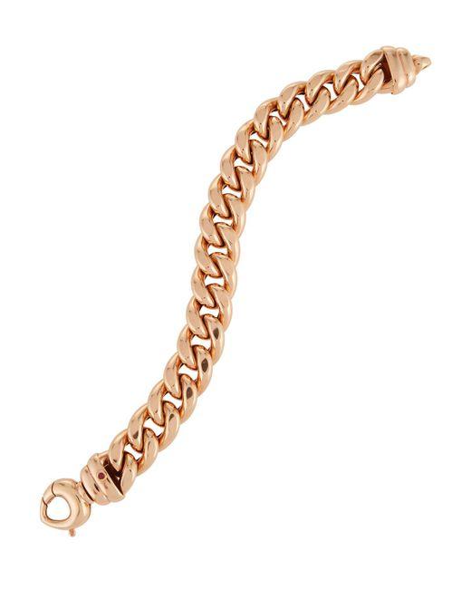 Roberto Coin - Metallic 18k Rose Gold Curb Chain Bracelet - Lyst