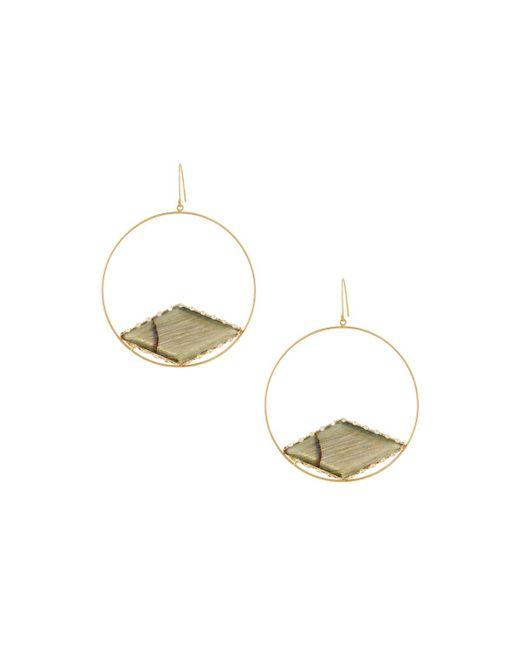 Lana Jewelry | Blue 14k Labradorite Gloss Hoop Drop Earrings | Lyst