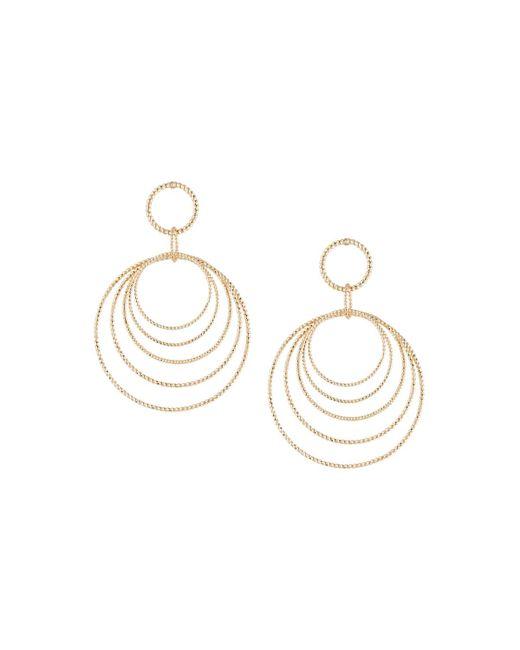 Lydell NYC - Metallic Graduating Drop Hoop Earrings - Lyst