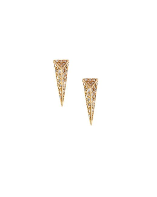 Mimi So | White Wonderland 18k Yellow Gold Pave Diamond Stinger Stud Earrings | Lyst