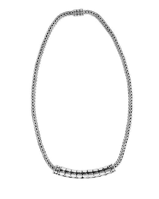 John Hardy - Metallic Dot Tube Enhancer Chain Necklace - Lyst