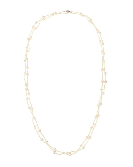 Belpearl - 14k White Freshwater Pearl Rope Necklace - Lyst