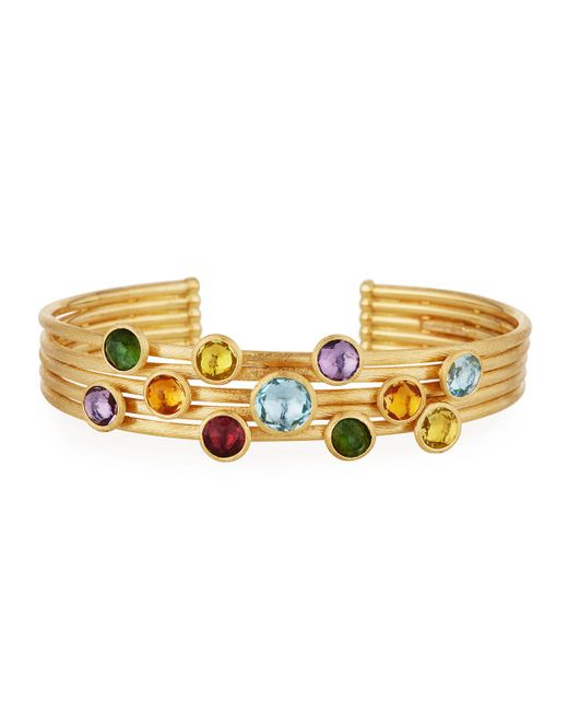 Marco Bicego | Multicolor Jaipur 18k Five-row Multi-stone Bangle | Lyst