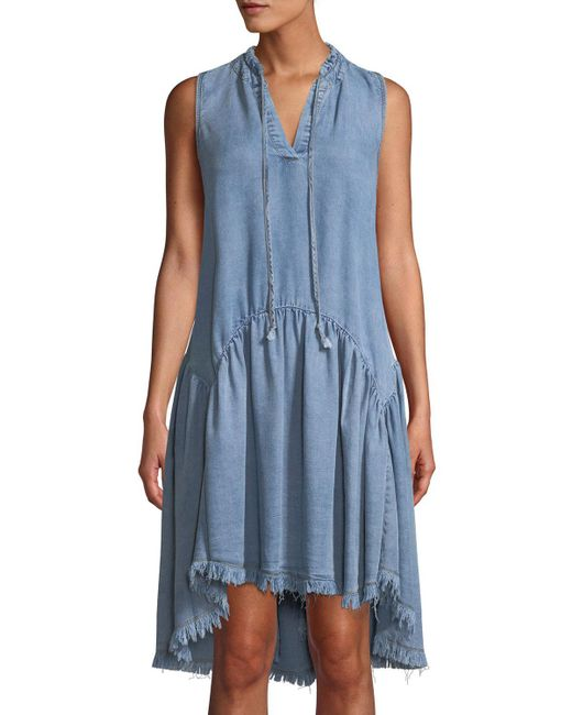 Catherine Malandrino - Blue Keala Dropwaist Chambray Dress - Lyst