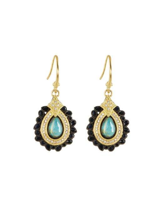 Armenta - Multicolor 18k Turquoise & Quartz Doublet Drop Earrings W/ Diamonds - Lyst