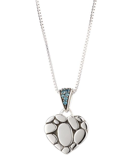 John Hardy | Kali Lava Heart Pendant Necklace W/ Blue Topaz | Lyst