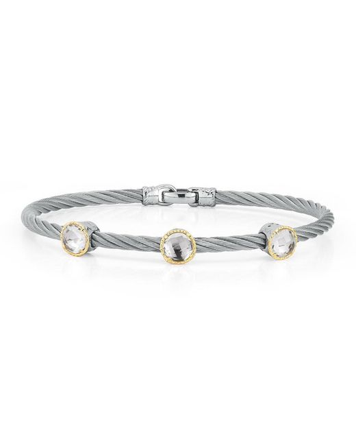 Alor | Metallic Triple Topaz Station Cable Bracelet | Lyst
