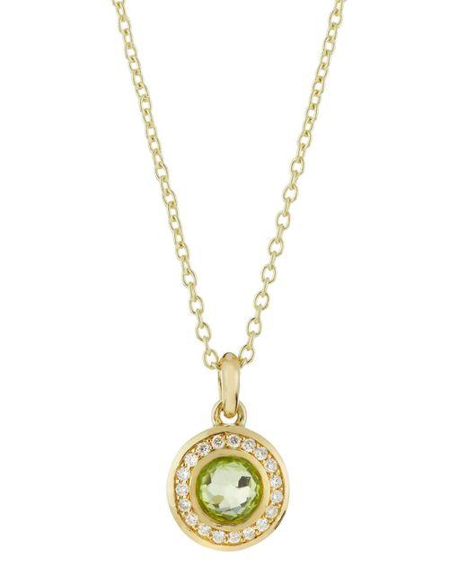 Ippolita | Metallic 18k Lollipop Mini Peridot & Diamond Pendant Necklace | Lyst