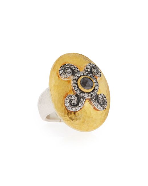 Gurhan | Metallic Diamond Elegance Domed Lentil Ring | Lyst