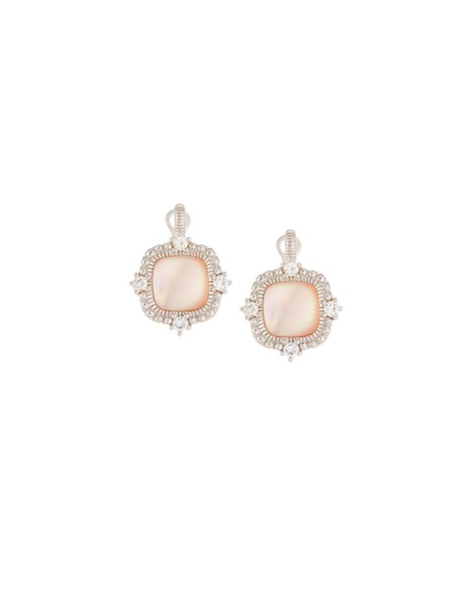 Judith Ripka | Multicolor Chantilly Square Pink Mother-of-pearl Drop Earrings | Lyst