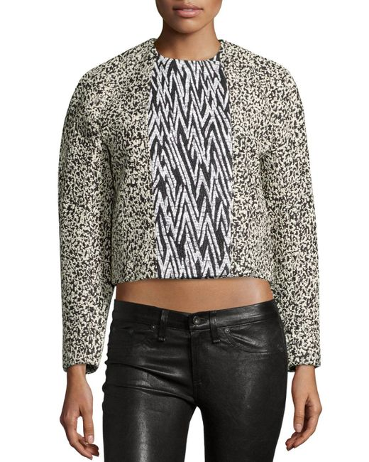 Proenza Schouler | Black Double-breasted Cropped Jacket | Lyst