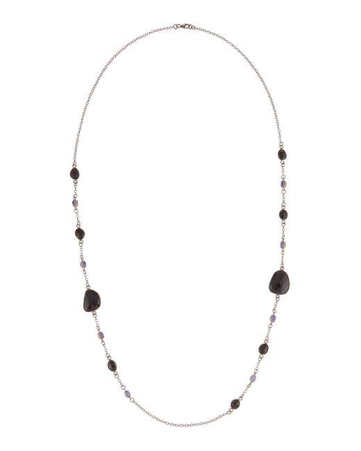 Bavna | Multicolor Long Tanzanite & Spinel Station Necklace | Lyst