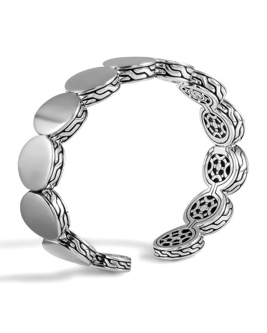 John Hardy - Metallic Dot Sterling Silver Flex Cuff - Lyst