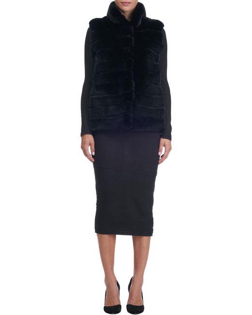Gorski   Black Stand-collar Rabbit Fur Jacket   Lyst