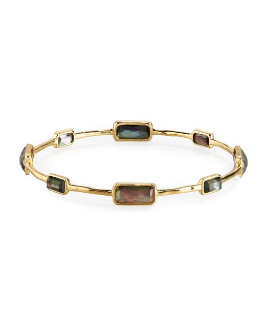 Ippolita | 18k Gold Rock Candy Gelato 8-stone Bangle In Black Shell | Lyst