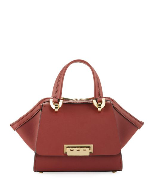 Zac Zac Posen - Red Eartha Mini Leather Double-handle Satchel Bag - Lyst