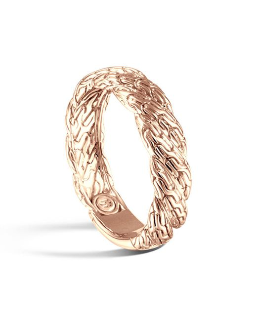 John Hardy | Multicolor Classic Chain Twisted 18k Gold Ring | Lyst
