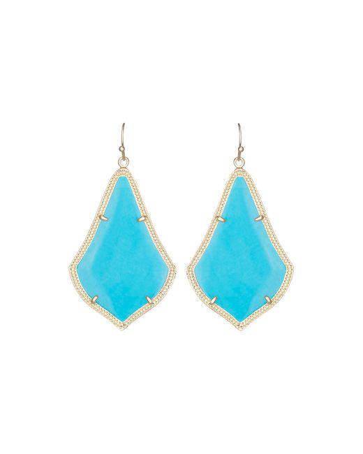 Kendra Scott | Blue Alexandra Large Magnesite Drop Earrings | Lyst