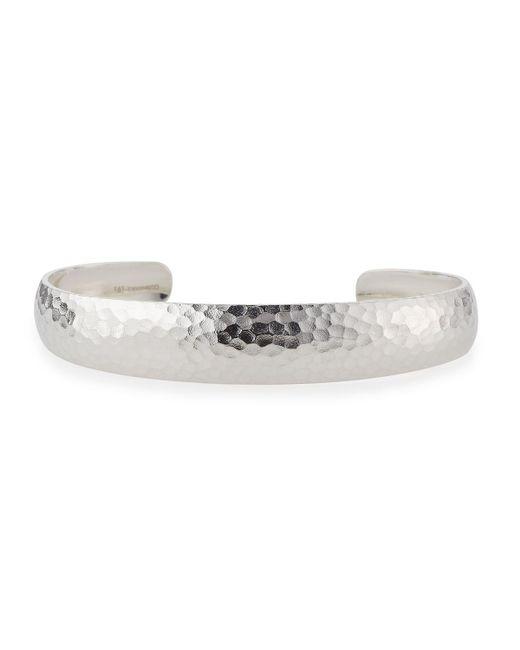 Gurhan   Metallic Hammered Silver Cuff Bracelet   Lyst