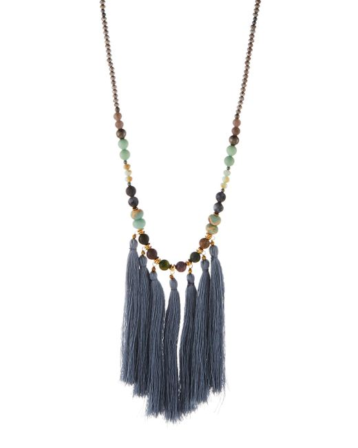 Nakamol   Blue Long Beaded Multi-tassel Pendant Necklace   Lyst