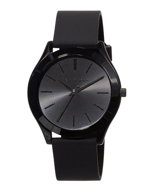 MICHAEL Michael Kors | Black 42mm Slim Runway Watch W/ Silicone Strap for Men | Lyst